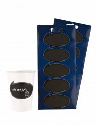 10 adesivi per bicchieri da grattare