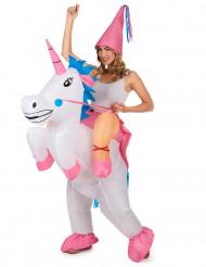 Costume unicorno gonfiabile per adulto