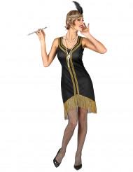 Costume charleston oro e nero da donna