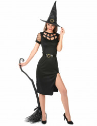 Costume sexy da strega color nero Halloween