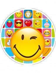 Disco di zucchero Smiley™ 21 cm aleatorio