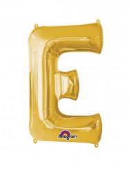 Palloncino alluminio gigante lettera E oro 53 x 81 cm