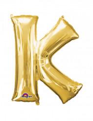Palloncino alluminio gigante lettera K oro 66 x 83 cm