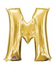 Palloncino alluminio gigante lettera M color oro