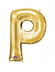 Palloncino alluminio gigante lettera P oro 60 x 81 cm
