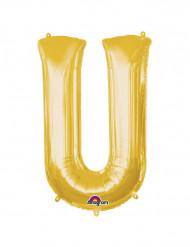 Palloncino alluminio gigante lettera U oro 58 x 83 cm