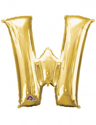 Palloncino alluminio gigante lettera W color oro