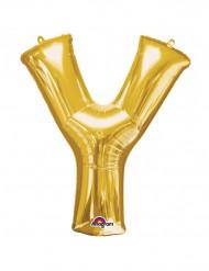 Palloncino alluminio gigante lettera Y color oro