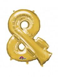 Palloncino alluminio gigante simbolo & color oro 76 x 96 cm