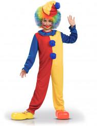 Costume bicolore da pagliaccio bambino