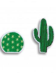 2 spille in tessuto cactus
