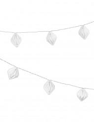 Ghirlanda luminosa con origami bianchi