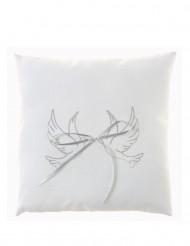 Cuscino per fedi con colombe bianche