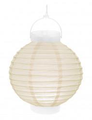 Lanterna luminosa avorio 20 cm