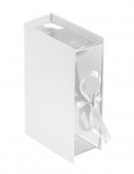 4 scatole a forma di libro bianche
