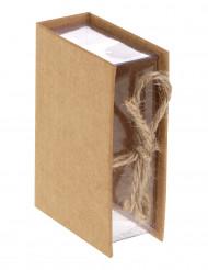 4 scatole a forma di libro kraft