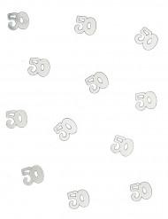 Coriandoli da tavola 50 anni argento