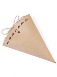 6 coni in carta kraft 15 cm