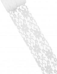 Rotolo di pizzo sottile bianco