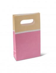6 sacchetti di carta sorbetto rosa