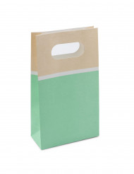 6 sacchetti di carta sorbetto color menta