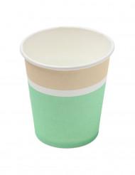 20 bicchieri in cartone color menta