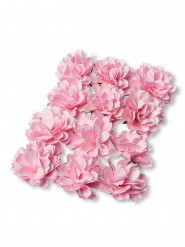 12 mini peonie di carta rosa