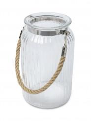 Lanterna di vetro con manico 18 cm
