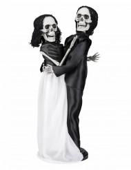 Decorazione coppia di sposi scheletri Halloween