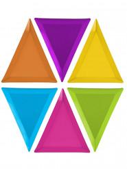 6 piatti triangolari piccoli mostri