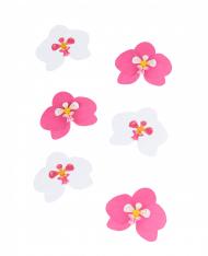 6 Decorazioni da tavola orchidee rosa