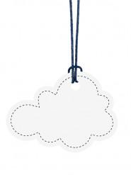 6 etichette nuvola bianca
