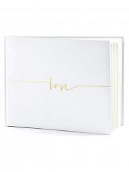Libro firma bianco con scritta