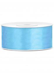 Nastro satinato azzurro 25 mm