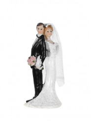 Statuina coppia di sposi di spalle