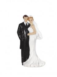 Statuina coppia di sposi elegante