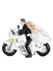 Statuina di sposi sulla moto