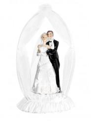 Statuina coppia di sposi con arco