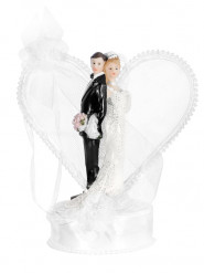 Statuina sposi con arco a cuore