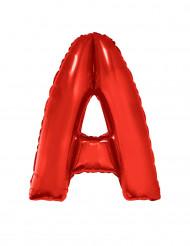 Palloncino alluminio gigante rosso lettera A