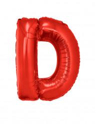 Palloncino alluminio gigante rosso lettera D