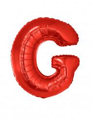 Palloncino alluminio gigante rosso lettera G