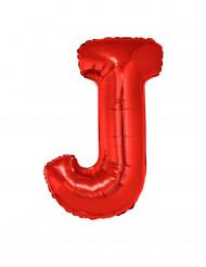 Palloncino alluminio gigante rosso lettera J