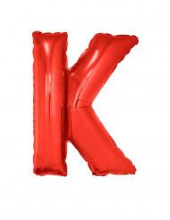 Palloncino alluminio gigante rosso lettera K