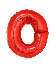 Palloncino alluminio gigante rosso lettera O