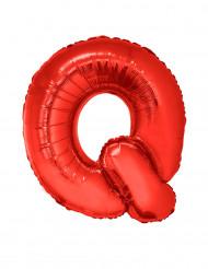Palloncino alluminio gigante rosso lettera Q