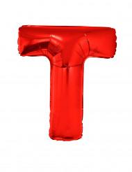Palloncino alluminio gigante rosso lettera T