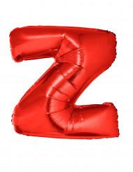 Palloncino alluminio gigante rosso lettera Z