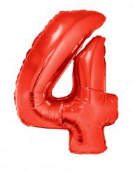 Palloncino alluminio gigante rosso numero 4