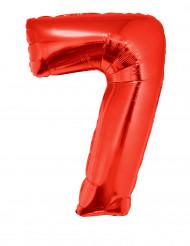 Palloncino alluminio gigante rosso numero 7